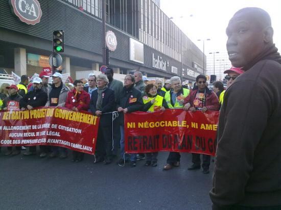Carré de tête - Mobilisation Retraite 12 10 2010