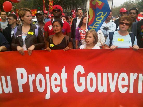 Manifestation 2010 contre la projet gouv. sur les retraites