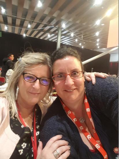 Martine et Kathy - Congrès Confédéral 2018