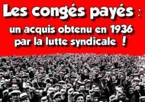 Conges payes acquis lutte greve 1936 300x212